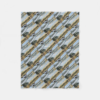MAGPIE GEESE RURAL QUEENSLAND AUSTRALIA FLEECE BLANKET