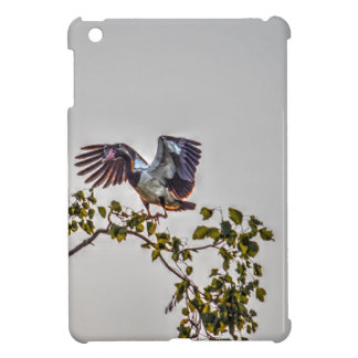 MAGPIE GOOSE IN FLIGHT AUSTRALIA ART EFFECTS iPad MINI COVERS