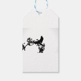 MAGPIE GOOSE IN FLIGHT SILHOUETTE AUSTRALIA GIFT TAGS