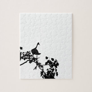 MAGPIE GOOSE IN TREE SILHOUETTE AUSTRALIA JIGSAW PUZZLE