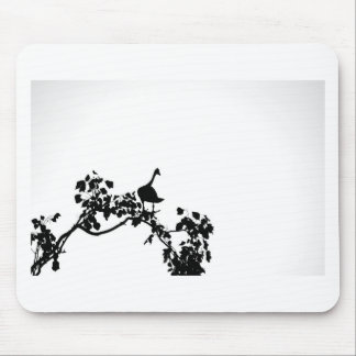 MAGPIE GOOSE IN TREE SILHOUETTE AUSTRALIA MOUSE PAD