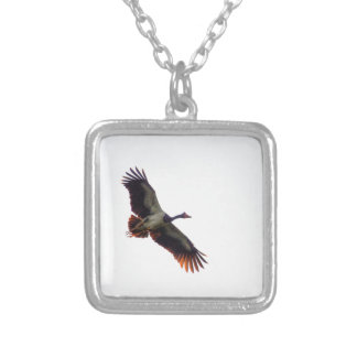 MAGPIE GOOSE QUEENSLAND AUSTRALIA ART EFFECTS SILVER PLATED NECKLACE