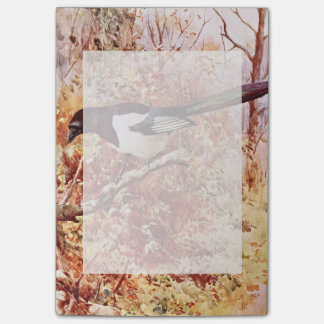 Magpie in Autumn Post-it Notes