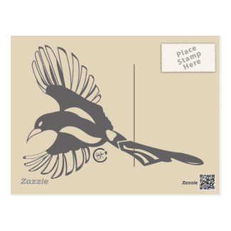 Magpie Message Post Card