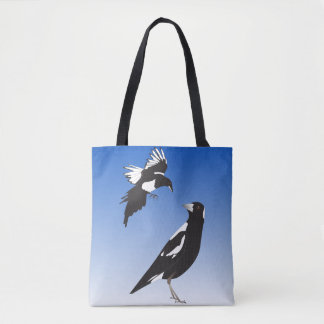 Magpies ready to party tote bag