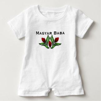 Magyar Baba w/Red Flowers Baby Bodysuit