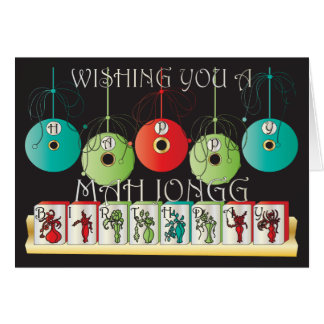 Mah Jongg Bettors Birthday Card