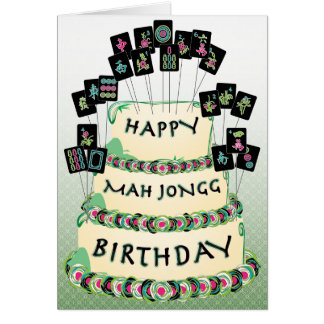 Mah Jongg Cake Birthday Card
