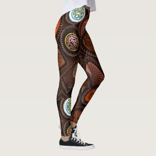Mah Jongg Chocolate Leggings