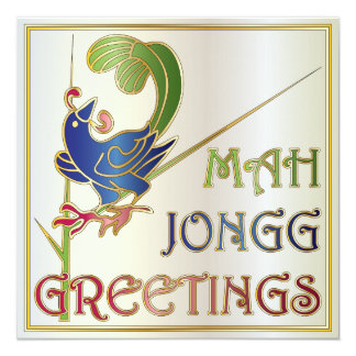 Mah Jongg Christmas One Bam Invitation/Card 13 Cm X 13 Cm Square Invitation Card