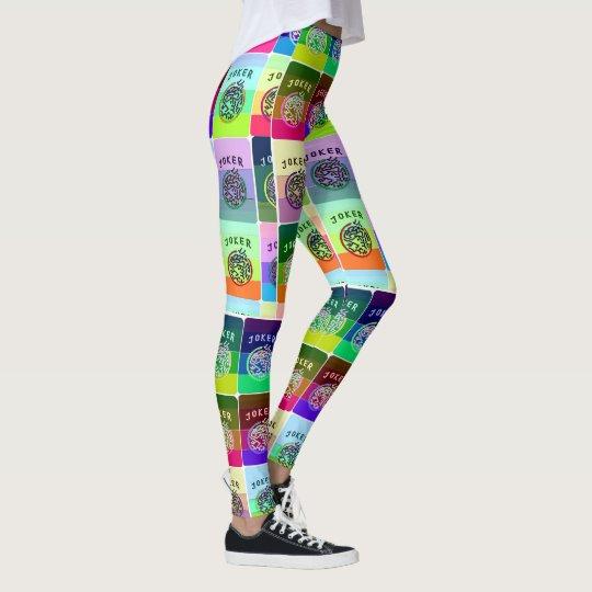 Mah Jongg Coloured Tiles Leggings