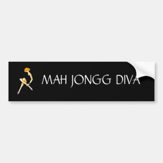 Mah Jongg Diva Bumper Sticker