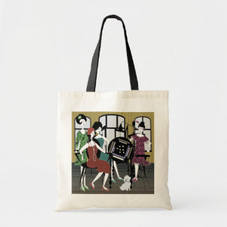 Mah Jongg Flappers Dog Bag