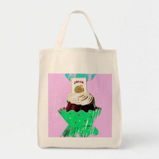 Mah Jongg Graphic Cupcake Tote Bag.