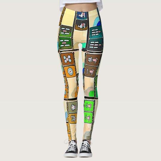 Mah Jongg Graphic Tiles Leggings