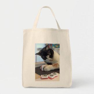 Mah Jongg Joker Cat Tote Bag