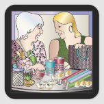 Mah Jongg Mother's Day Square Stickers