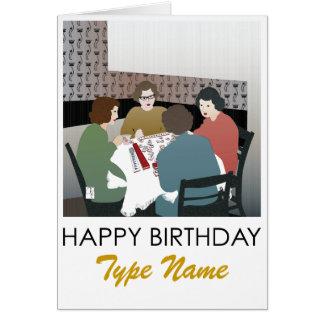 Mah Jongg Retro Birthday Card
