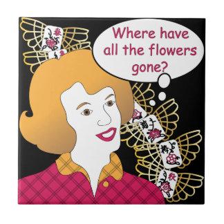 Mah Jongg Sayings Flowers Tile