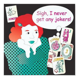 Mah Jongg Sayings Jokers2 13 Cm X 13 Cm Square Invitation Card