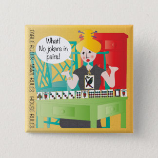 Mah Jongg Sayings No Jokers 15 Cm Square Badge
