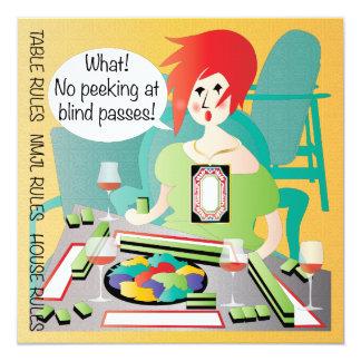 Mah Jongg Sayings Peek Pass 13 Cm X 13 Cm Square Invitation Card
