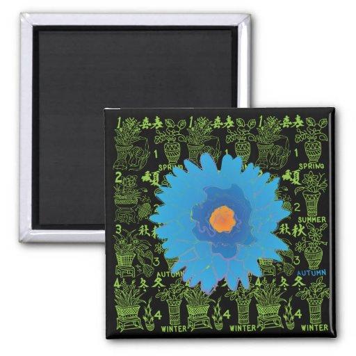 Mah Jongg Seasons Autumn Magnet