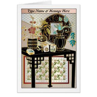 Mah Jongg Vases 01 Customisable Card