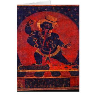 Mahakala, 12th century card