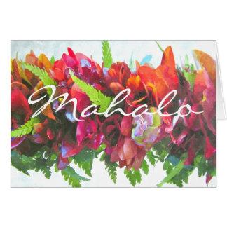 Mahalo Haku Lei Card