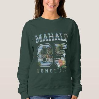 Mahalo Honolulu 85, Flowers Women's Sweatshirt