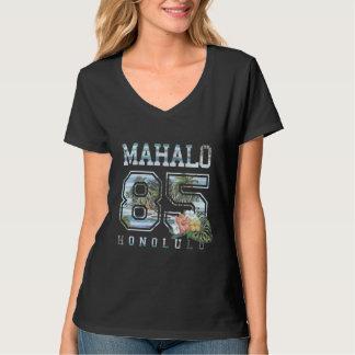Mahalo Honolulu 85, Flowers Women's T-Shirt