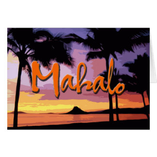 Mahalo Sunset Notecard Note Card