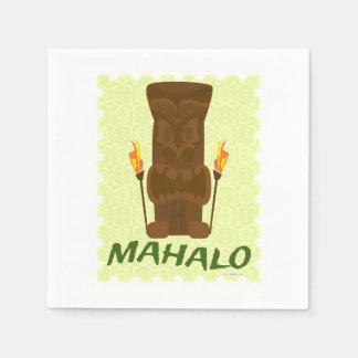 Mahalo Tiki God Paper Napkins