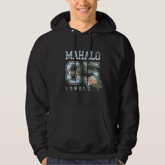 Mahalo Vintage Tropical Island Collegiate Number Hoodie