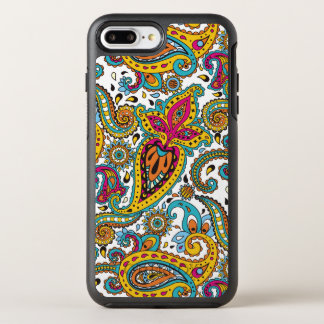 Maharani Queen Paisley Turquoise Orange Red Yellow OtterBox Symmetry iPhone 8 Plus/7 Plus Case