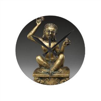 Mahasiddha, the Flower King Round Clock