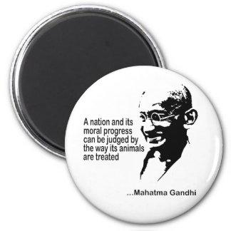 Mahatma Gandhi Animal Rights 6 Cm Round Magnet