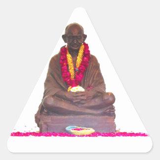 Mahatma GANDHI Father of Nation India Triangle Sticker