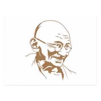 Mahatma Gandhi Portrait Postcard