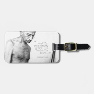 Mahatma Gandhi Quote, Minority of One, Truth Luggage Tag