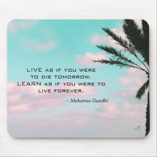 Mahatma Gandhi Quote Tropical Themed Inspirational Mouse Pad