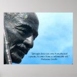 Mahatma Gandhi - Strength quote Poster