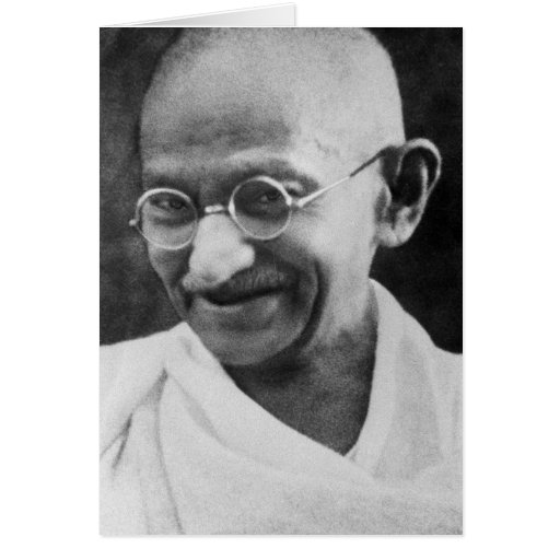 Mahatma Ghandi Portrait Photograph Card