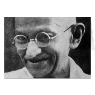 Mahatma Ghandi Portrait Photograph Greeting Card