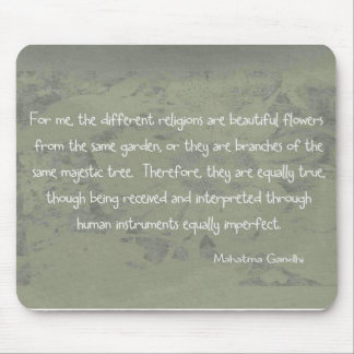 Mahatma Ghandi Quote Mouse Pad