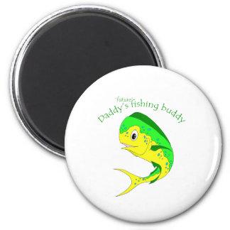 Mahi Future Fishing Buddy 6 Cm Round Magnet