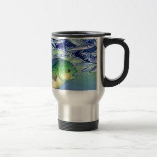 Mahi Mahi (Dolphin Fish) chasing Flying Fish Travel Mug