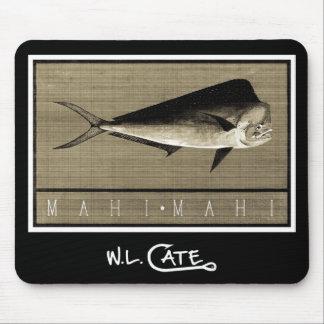 Mahi-Mahi Vintage Black White Mouse Pads