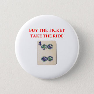 mahjong 6 cm round badge